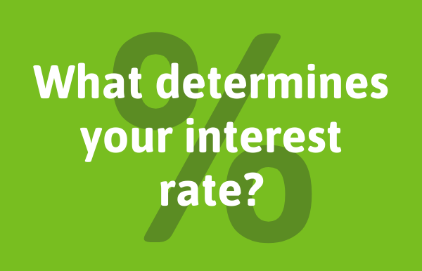 What determines your loan's interest rate?